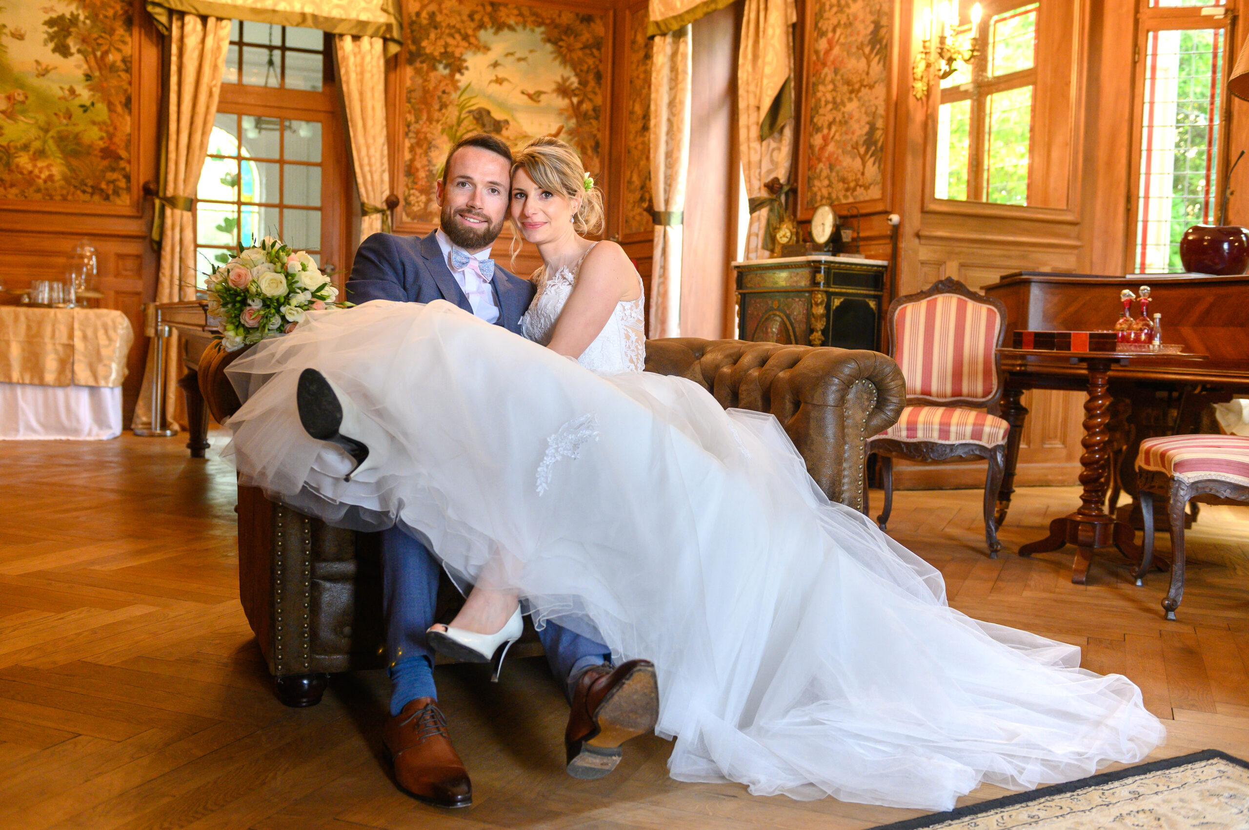 Couple de mariés, mariage dans le Beaujolais avec Art Song Production